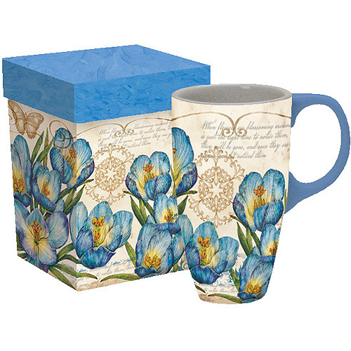 Lang Blue Crocus Latte Mug