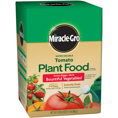 Miracle-Gro Water Soluble Tomato Plant Food, 1.5 lbs
