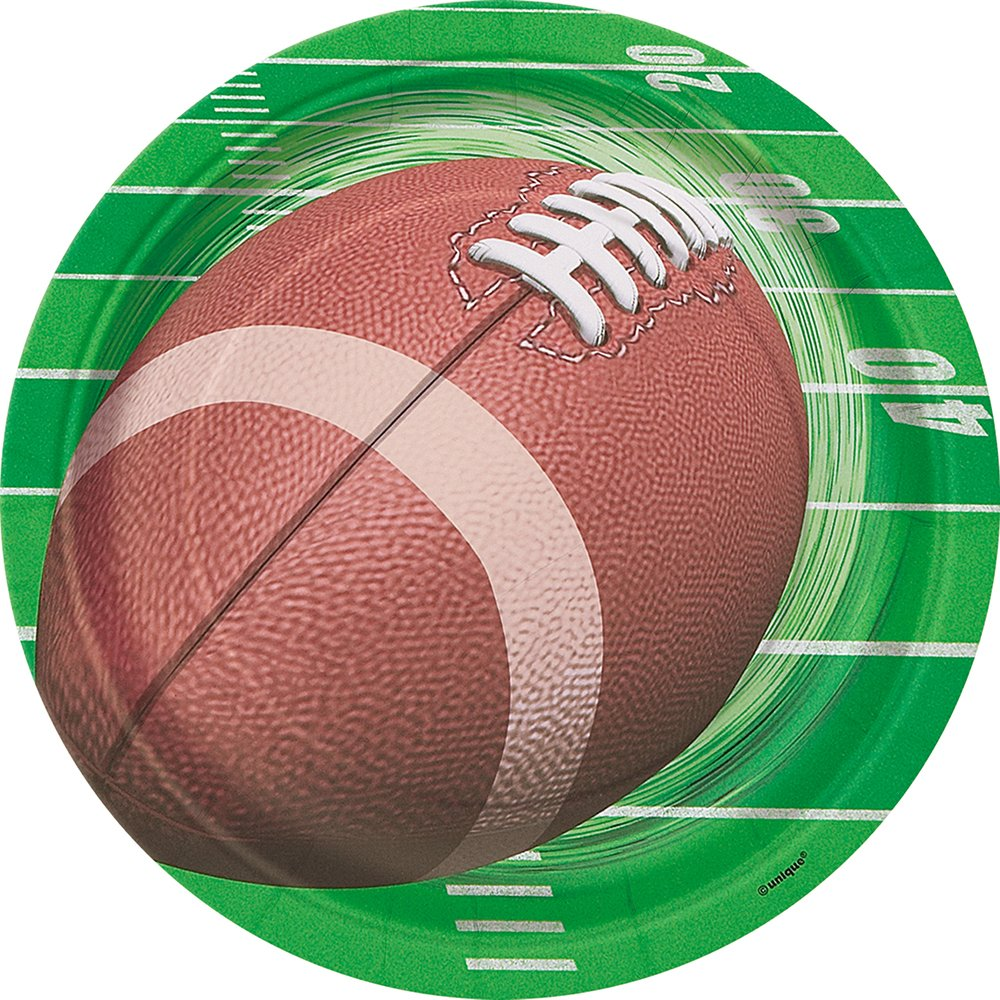 FOOTBALL PARTY DINNER PLATES, 8CT