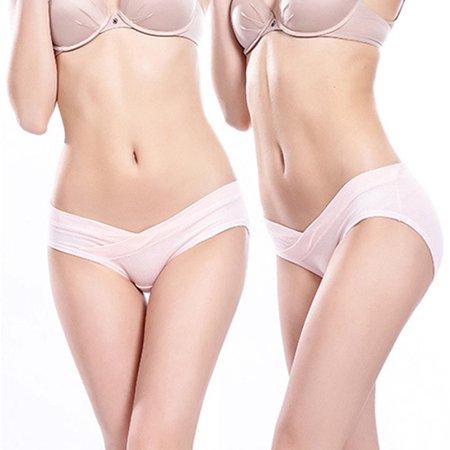 Women Pregnant Panty U-Shaped Lingerie Low Waist Breathable Triangular Cross - image 2 de 6
