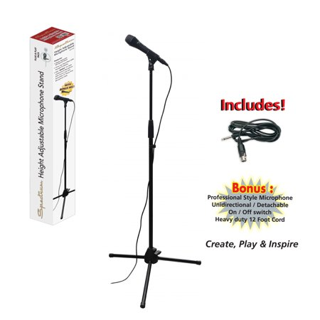 Spectrum AIL 101B Microphone Stand with Microphone