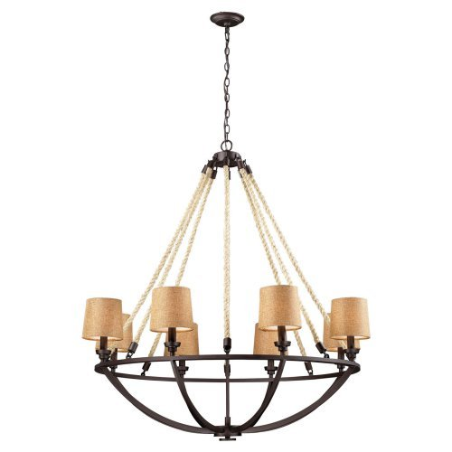 Elk Lighting Natural Rope 63017-8 Chandelier