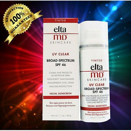 ELTA MD TINTED UV Clear SPF 46 Facial Sunscreen 1.7 oz Md Skin Care Sun Protection Cream