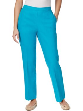 cf2e3f4e1e4 Product Image Alfred Dunner Womens Petites Comfort Waist Pull On Straight  Leg Pants