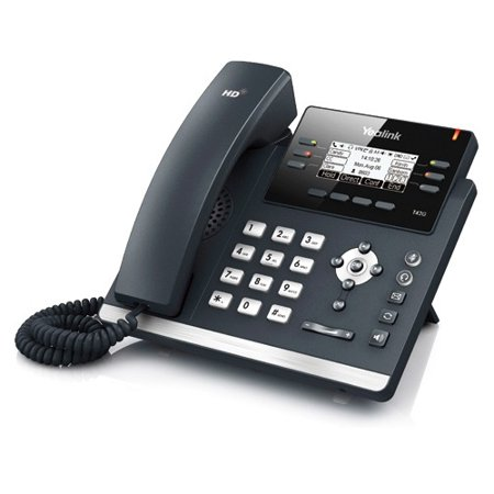 Yealink IP Phone - Cable - Desktop, Wall Mountable - Dark Gray (Power Supply Sold Separately) SIP-T42G