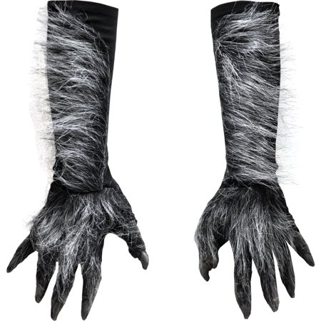 Morris Costumes Werewolf Hands Gray Halloween Costume - Halloween Horror Nights 2017 Werewolf