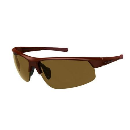 Ryders Eyewear Saber Polarized Sunglasses - Color (MATTE DARK RED / BROWN LENS AR) ()