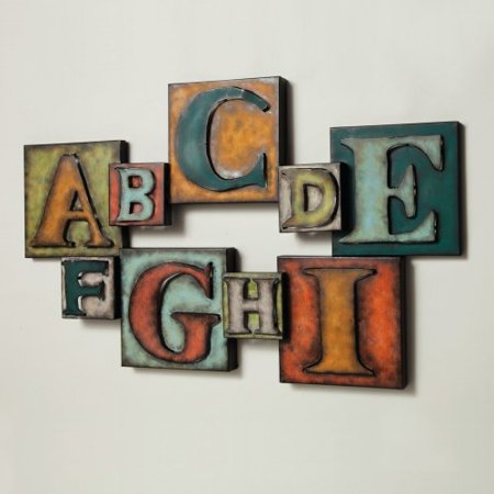 Letters metal wall art for Walmart art decor