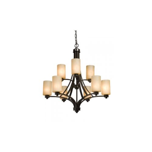 Artcraft Lighting AC1309 Parkdale Single-Tier Chandelier with 9 Lights - 28 Inch
