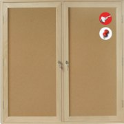 Mastervision Enclosed Cabinet Bulletin Board, 36'' x 48''