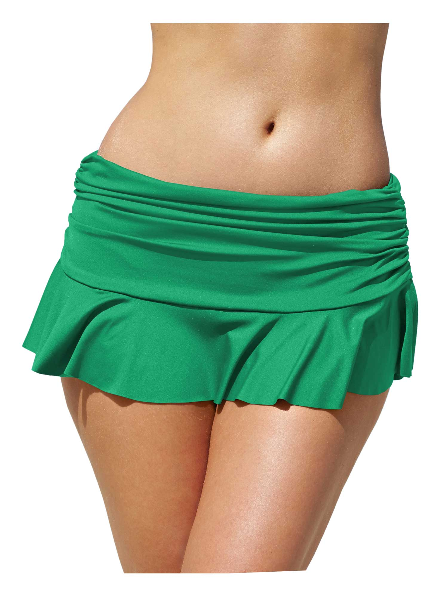 Lauren Ralph Lauren Ruffled Hem Swim Skirt 8 Emerald Womens Swimsuit