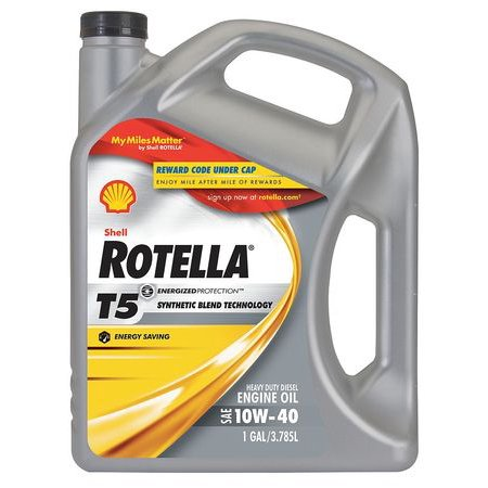 Rotella 550019907 diesel motor oil 1 gal 10w 40 bottle for How to get motor oil out of jeans