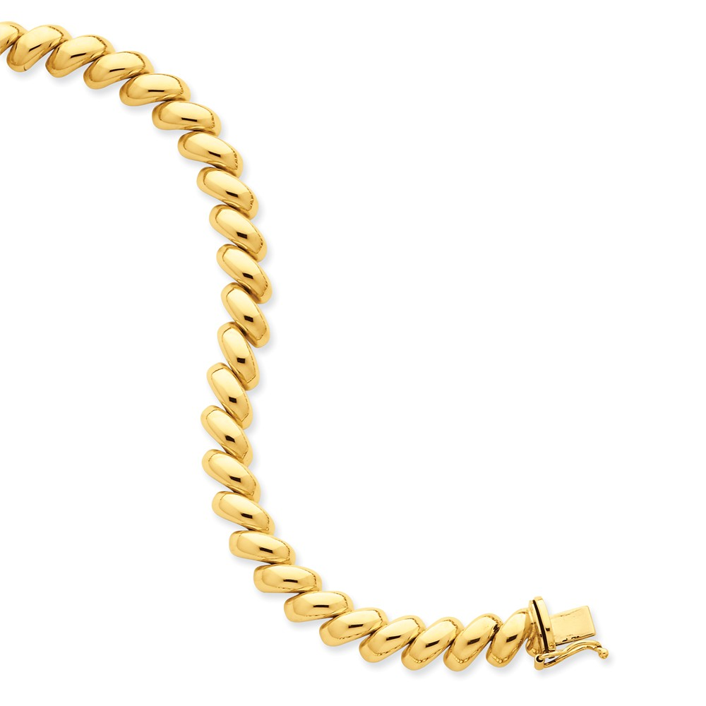14k Yellow 17in Gold Polished San Marco Necklace