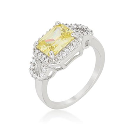 Kate Bissett R08381R-C41-06 Radiant Cut Halo Ring Size - 06 - image 1 de 1