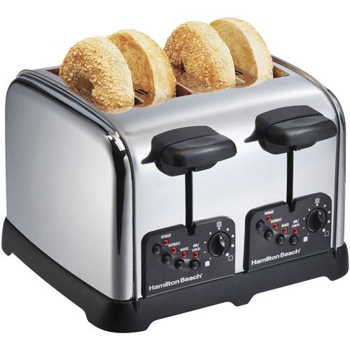 Hamilton Beach Classic Chrome 4 Slice Toaster | Model# 24790