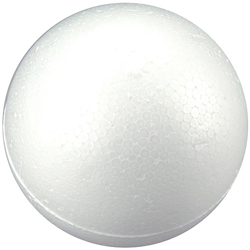 Smooth Foam Balls, 2pk, White
