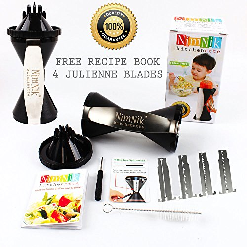 NimNik Kitchenette Vegetable Spiral Slicer Bundle with Ja...