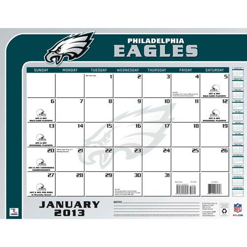 "Turner Licensing 2013 22"" x 17"" Desk Calendar, Philadelphia Eagles"
