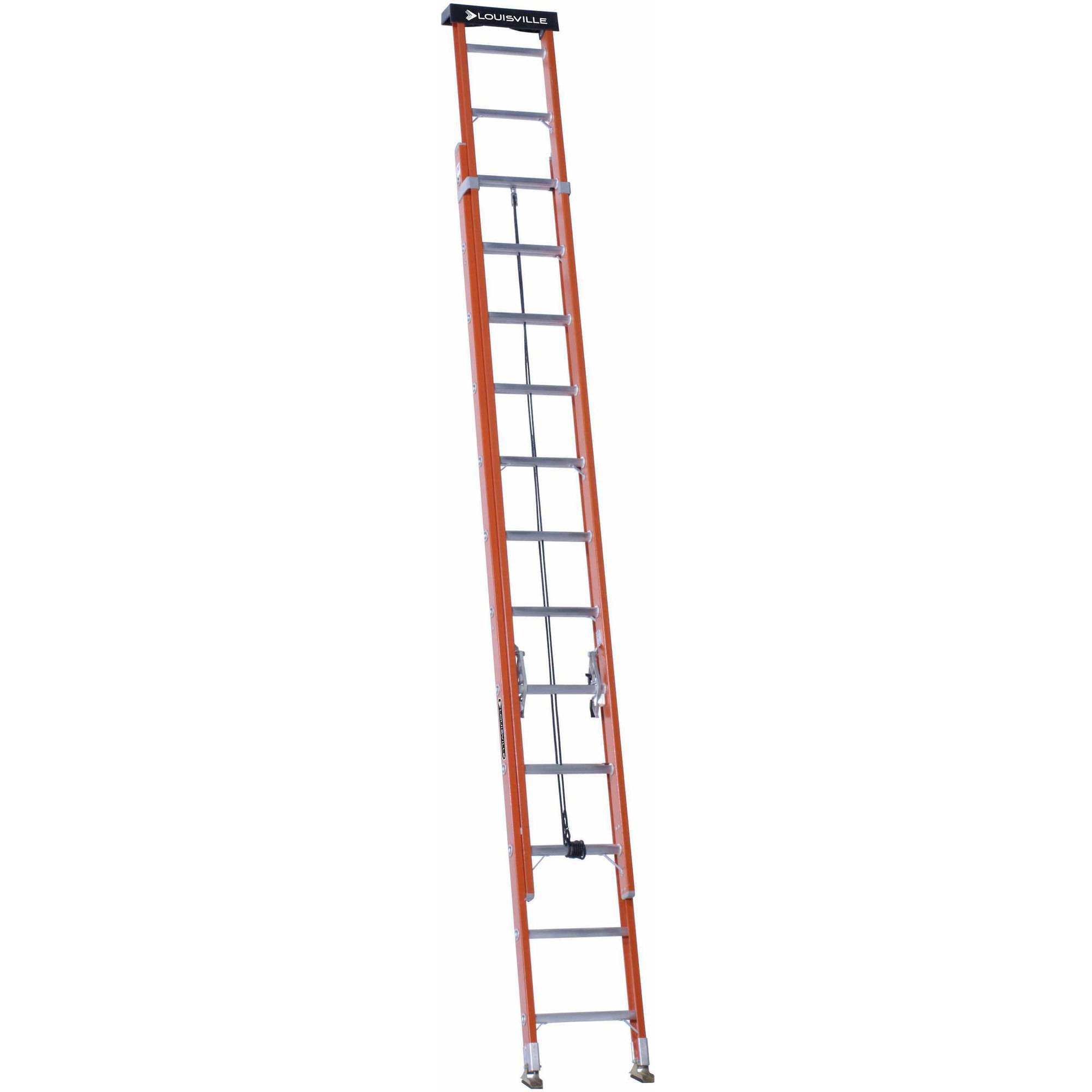 Louisville Ladder L  Ft Fiberglextension Ladder Type Ia 300 Lbs Load Capacity Walmart Com