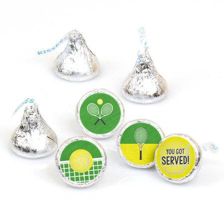 You Got Served - Tennis - Baby Shower or Tennis Ball Birthday Party Round Candy Sticker Favors - Fit Hershey
