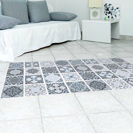 Mediterranean Mural (Mediterranean Style Removable 3D Floor Sticker Decal Mural Living Room Decor)