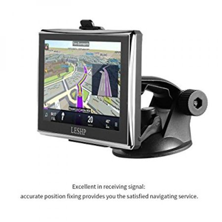 Car Gps Navigation 5Inch Leshp Touch Screen Gps Device With Built In 8Gb Rom Fm Mp3  Mp4  Lifetime Map