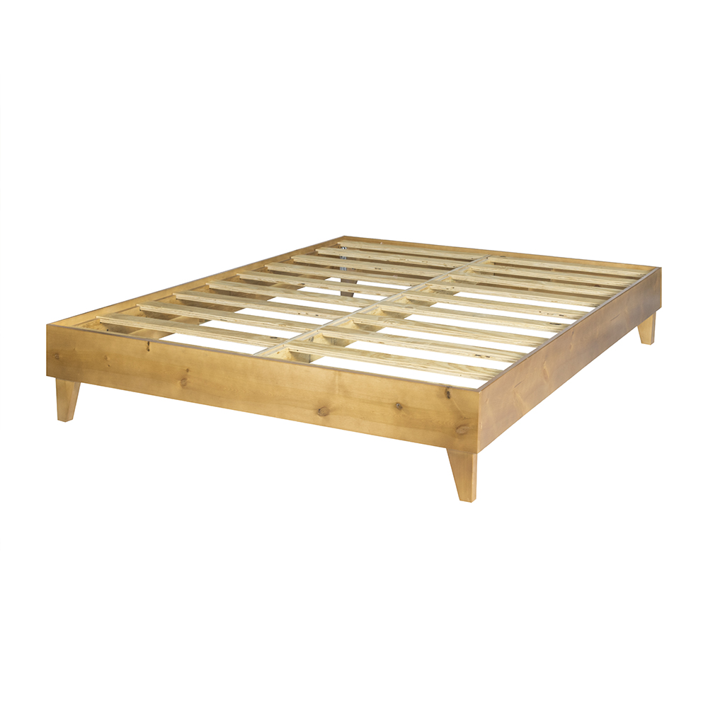 eLuxurySupply 100% North American Pine Wood Platform Bed Frame Made in the USA w Solid Mattress Foundation w Pressed... by eLuxurySupply