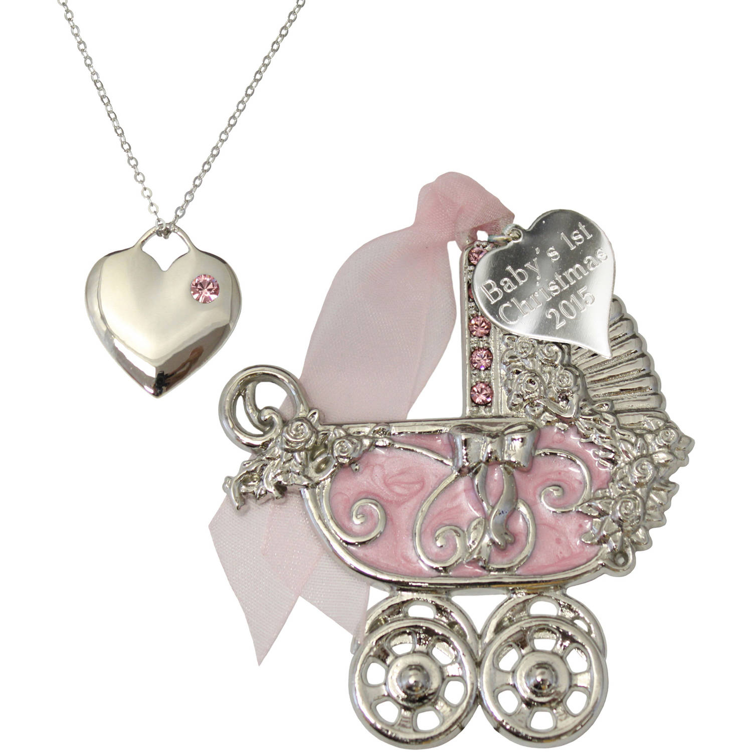 Gloria Duchin Baby Girl Ornament and Necklace Set