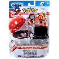 Pokemon XY TOMY Catch n Return Pokeball Mega Blaziken Figure Set