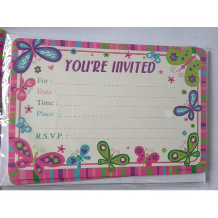 Any Occasion Party Invitations! YOU'RE INVITED!! RSVP! 10 Cards & Envelopes! By DTSC - Tea Party Invites
