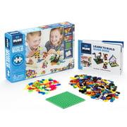 Plus-Plus - Learn to Build Open Play Building Set - 400 pc Basic Mix - Construction Building STEM | STEAM Toy, Interlocking Mini Puzzle Blocks for Kids