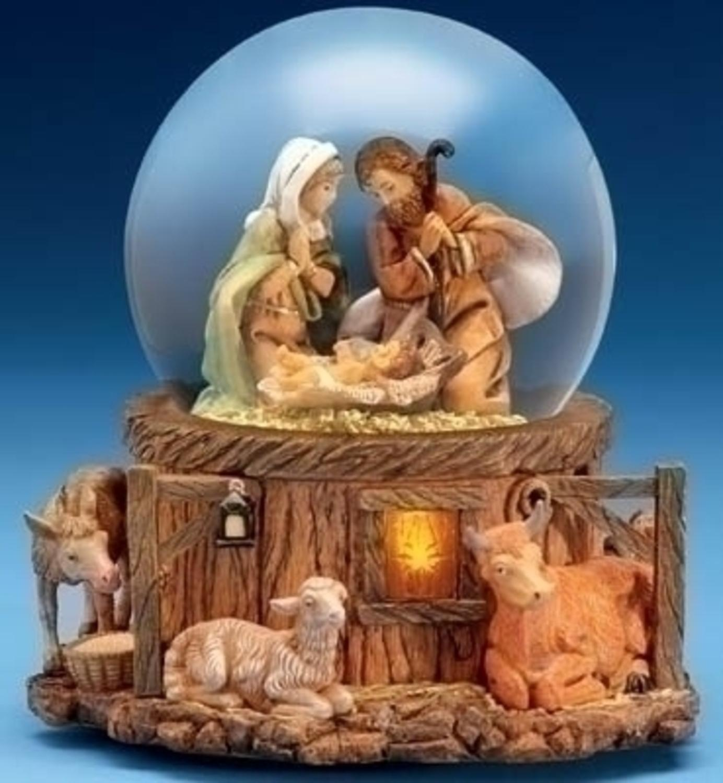 Roman Fontanini Musical Lighted Nativity Stable Scene Chr...