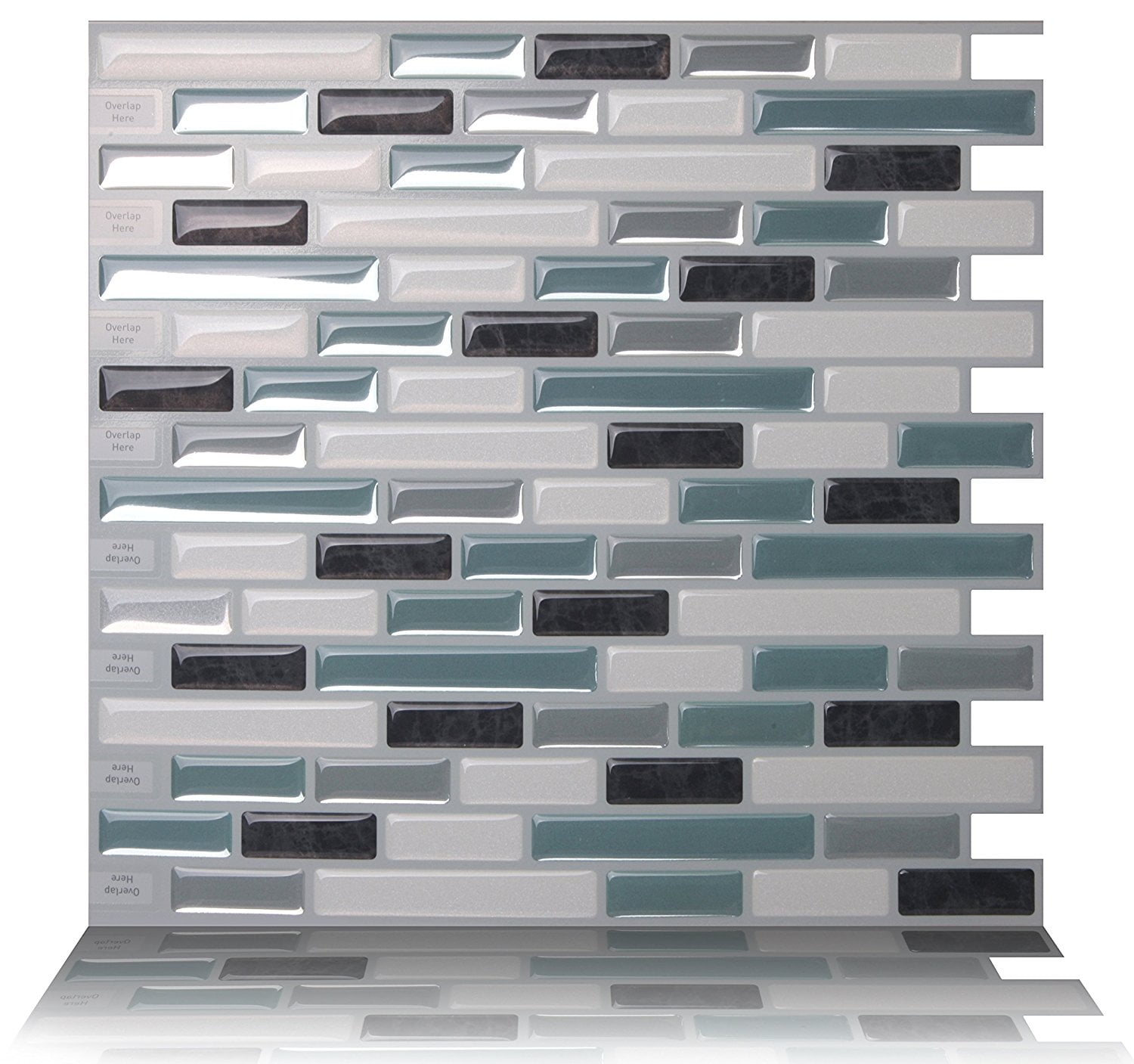 Tic Tac Tiles Premium Anti Mold L And Stick Wall Tile Backsplash In 10 X10 Como Marrone Sheets