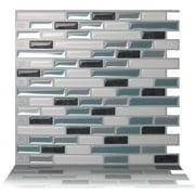 "Tic Tac Tiles - Premium Anti-Mold Peel and Stick Wall Tile Backsplash in 10""x10"" Como Marrone (10 Tile Sheets)"