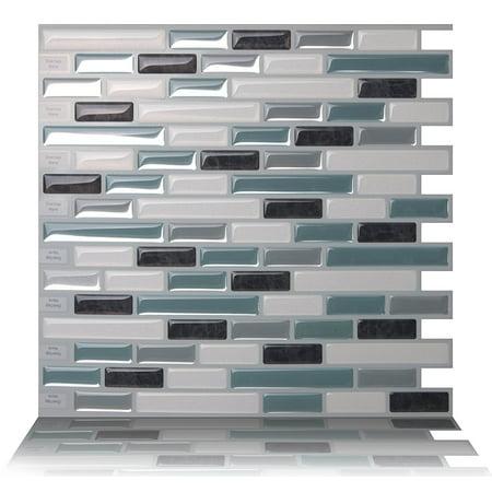 - Tic Tac Tiles - Premium Anti-Mold Peel and Stick Wall Tile Backsplash in 10