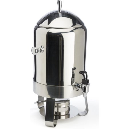 60-cup Coffee Urn with Chafer Fuel Container, 2.9 Gallon Capacity, Hot Beverage Dispenser with Lift-off Lid and Pull-down Lever for Spring Spigot, Stainless Steel (CFFA43V2)