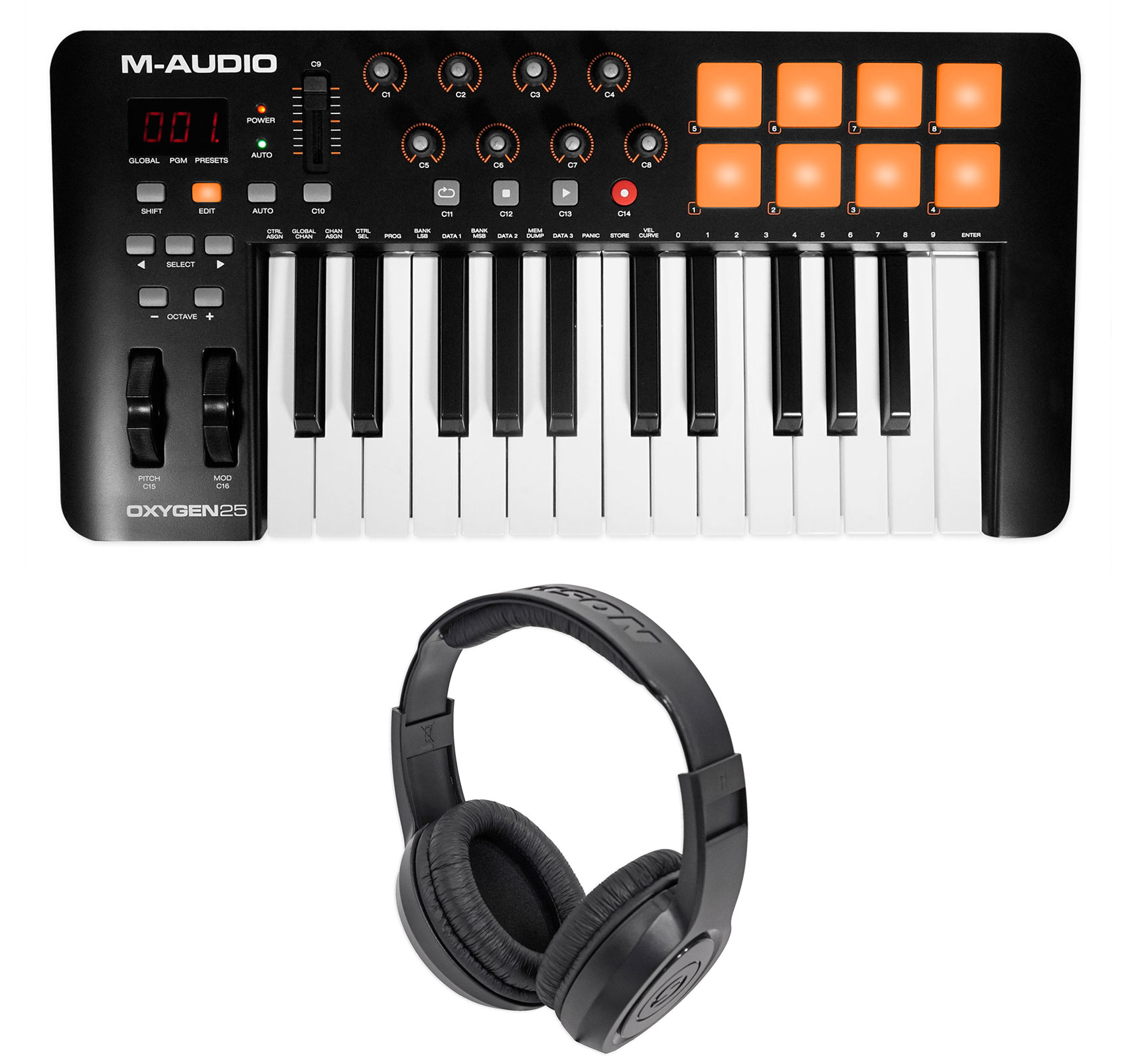 M-Audio Oxygen 25 MK IV 25-Key USB MIDI Keyboard Controller MKIV MK4+Headphones