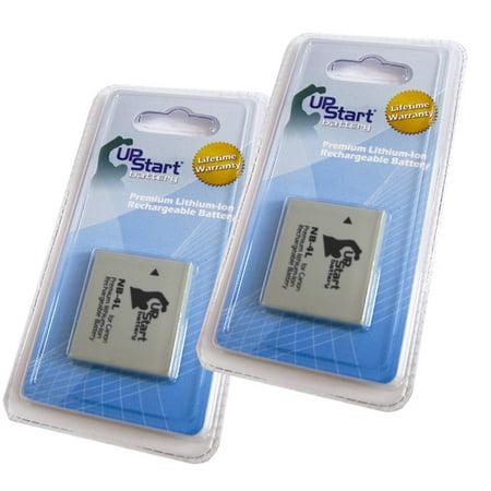4l Compatible Battery (2x Pack Compatible Canon PowerShot SD1100 IS Battery - Compatible for Canon NB-4L Digital Camera Battery (890mAh, 3.7V,)