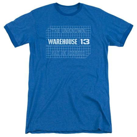 Warehouse 13 Blueprint Logo Mens Adult Heather Ringer Shirt