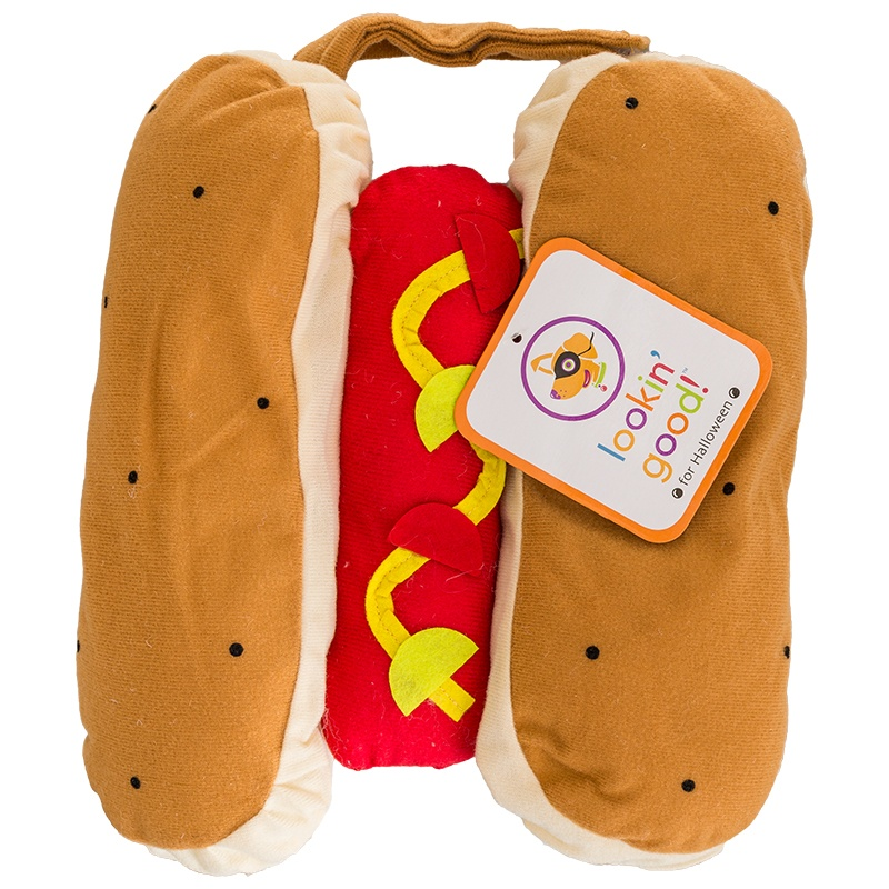 "Lookin' Good Hot Dog Dog Costume X-Small - (Fits 8""-10"" Neck to Tail)"