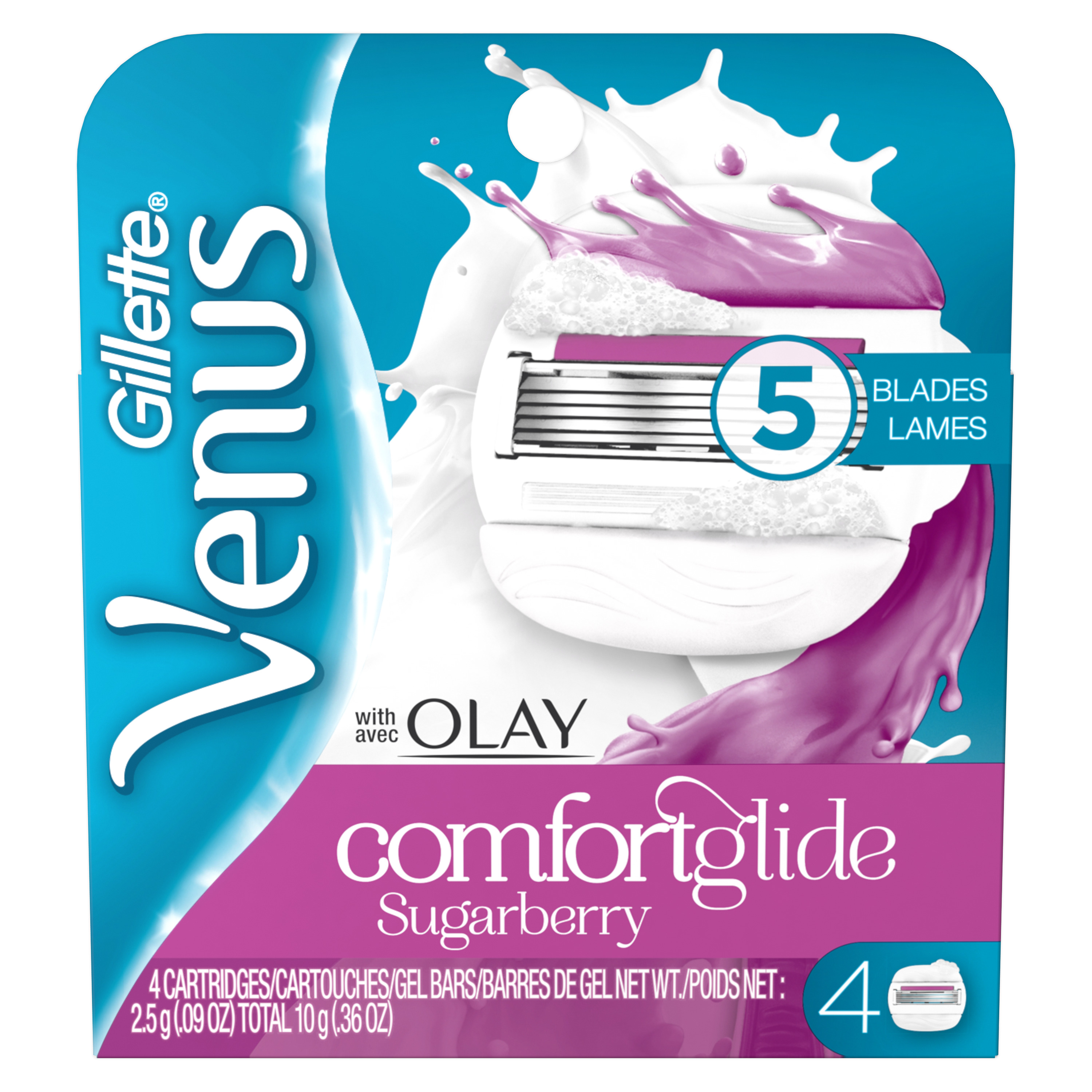 Venus ComfortGlide with Olay Sugarberry Women's Razor Blades (Choose Count)
