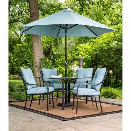 Hanover Lavallette 5-Piece Outdoor Dining Set and Table ...