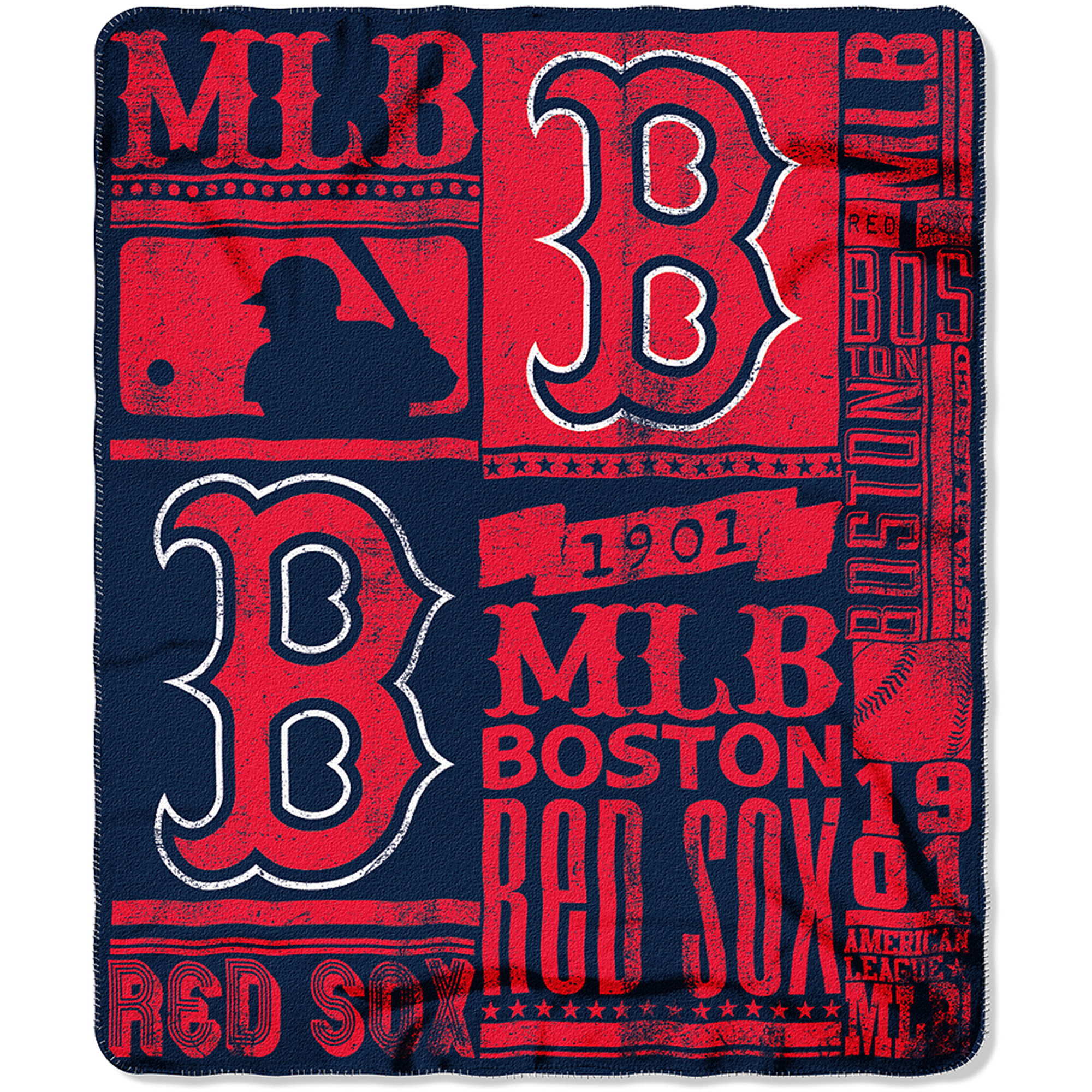 "MLB Boston Red Sox 50"" x 60"" Fleece Throw"