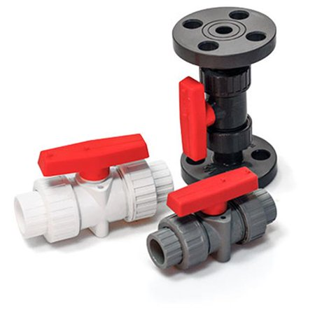 American Valve P200FC 1 1 in. CPVC Ball Valve with Flanged Ends PTFE Seats