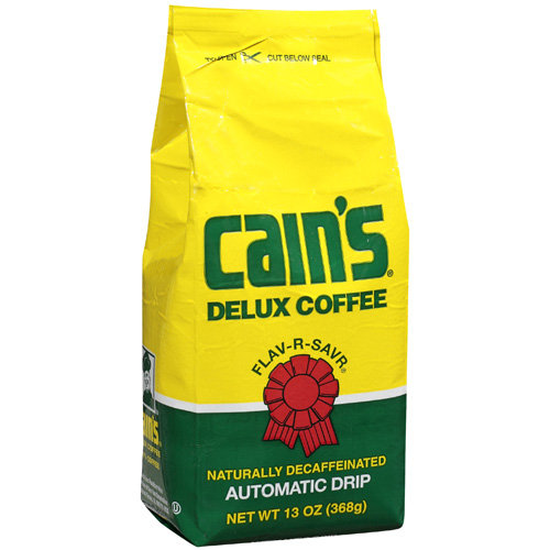 Cain?s Deluxe Blend Delux Flav-R-Savr Naturally Decaffeinated Automatic Drip Coffee, 13 oz