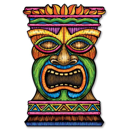 The Beistle Company Jumbo Tiki Cutout Wall D cor