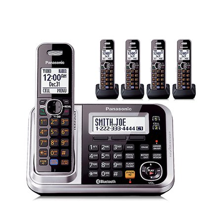 Panasonic KX-TG7875S Line Expandable Cordless Phone w/ Digital Answering System