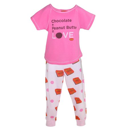 d89085b28279 Reeses Girl s Peanut Butter and Chocolate Pajama Set - image 4 ...