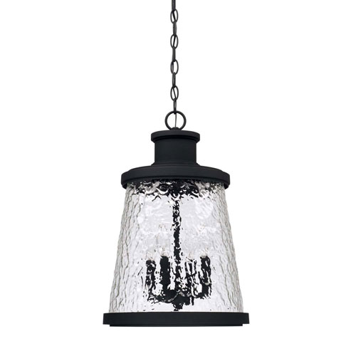 Tory Black Four-Light Outdoor Hanging Lantern by