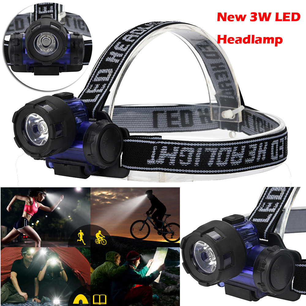 York'Street 3W LED Headlamp Headlight Head Torch for Camping Fishing Cycling Outdoor Sports